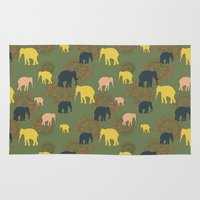 giants Area & Throw Rugs featuring The forest giants by Preethiprabhu