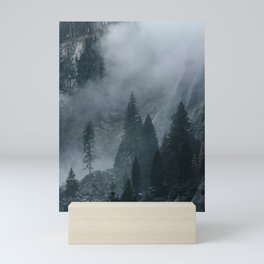Misty Forest and Rocky Mountains Mini Art Print