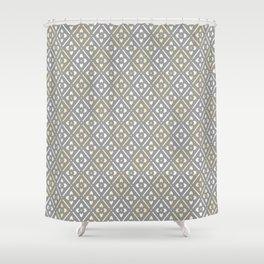 Greige Floral Shower Curtain