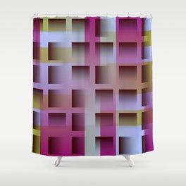 gradient space 01 Shower Curtain