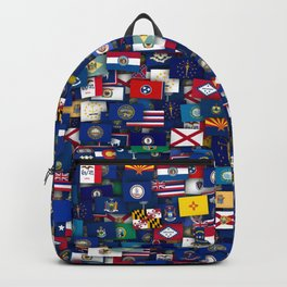 Flags of all US states Backpack