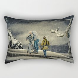 Death Research - Contemporary Art Collage Rectangular Pillow