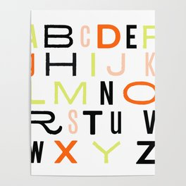 Eclectic Alphabet Poster