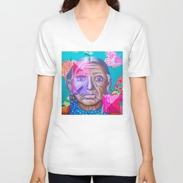 Mujer Caxcan Unisex V-Neck
