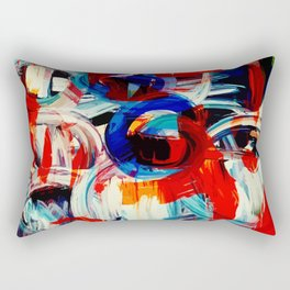Abstract Action American Painting Rectangular Pillow