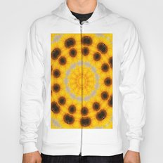 Sunflower and Bee Abstract Hoody