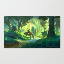 Link and the Forest Temple Canvas Print