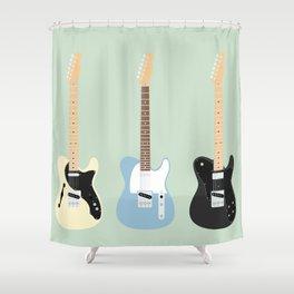 Flat Telecaster custom 7 Shower Curtain