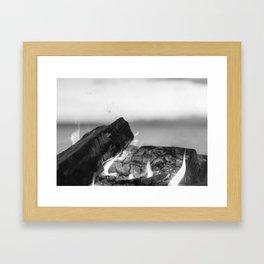 Summer Seaside Fires Framed Art Print