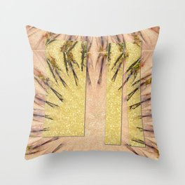 Intropression Makeup Flowers  ID:16165-134558-56051 Throw Pillow