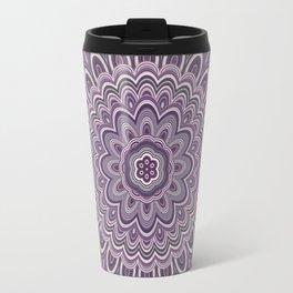 Purple floral mandala Travel Mug