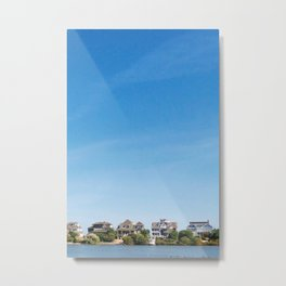 Little Boxes on the Lakeside Metal Print