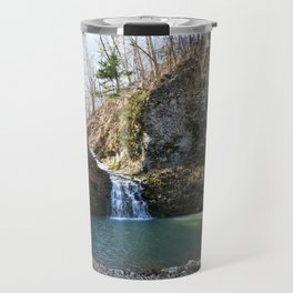 Alone in Secret Hollow with the Caves, Cascades, and Critters - Approaching the Falls, 2 of 2 Travel Mug