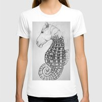 sea horse T-shirts featuring Sea Horse by Stephanie Darling