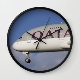 Qatar Airlines Airbus A380 Nose Wall Clock