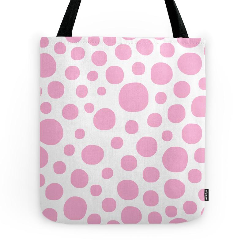 Pink Dots Tote Purse by davidssociety6 (TBG7329008) photo