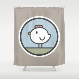 Free Range Chicken Shower Curtain