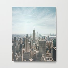 Empire state building, New York | Colorful city view in NYC cityscape | Travel photography Metal Print