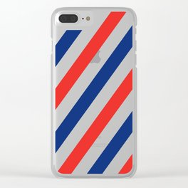 Barber Stripes Clear iPhone Case
