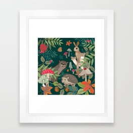 Animals In The Woods Framed Art Print