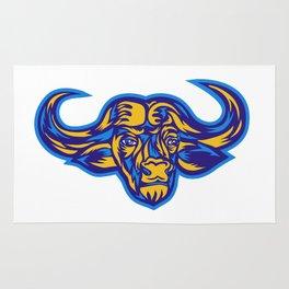 Cape Buffalo Head Retro Rug