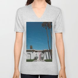 Palm Springs Pink Door Unisex V-Neck