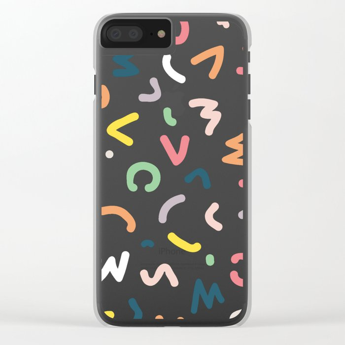 Neon Lights Clear iPhone Case