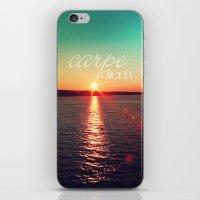 carpe diem iPhone & iPod Skins featuring carpe diem by Sylvia Cook Photography