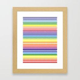 Tribality Rainbow Framed Art Print