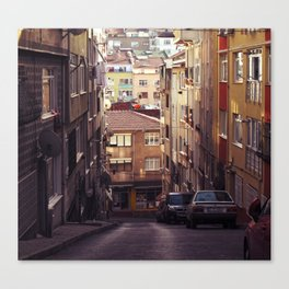 Small streets of Istanbul Canvas Print