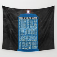doctor who Wall Tapestries featuring Doctor Who  by Luke Eckstein