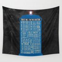 luke hemmings Wall Tapestries featuring Doctor Who  by Luke Eckstein