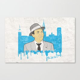 These Litte Town Blues Canvas Print
