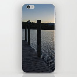derwentwater jetty sunset iPhone Skin