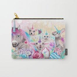 We All Just Want to be Unicorns Carry-All Pouch