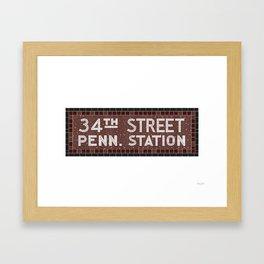 34 Street Penn Station Framed Art Print