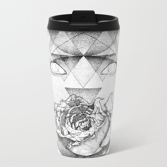 Lupine Rosaceae Metal Travel Mug