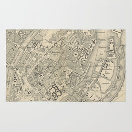 Vintage Map of Copenhagen Denmark (1886) Rug