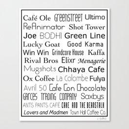 Coffee Shops of Philadelphia Canvas Print