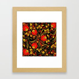 Russian khokhloma Framed Art Print