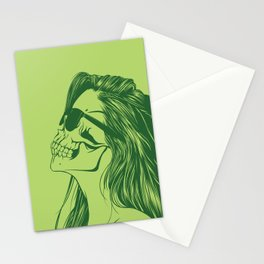 Skull Girl 2 Stationery Cards