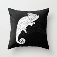 chameleon Throw Pillows featuring CHAMELEON by ARCHIGRAF