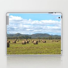 Hay bales on a sunny day Laptop & iPad Skin