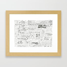 Dear Diary... Framed Art Print