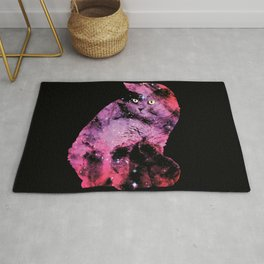 Celestial Cat - The British Shorthair & The Pelican Nebula Rug