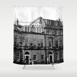 Edinburgh, Scotland Quaint City Homes Shower Curtain
