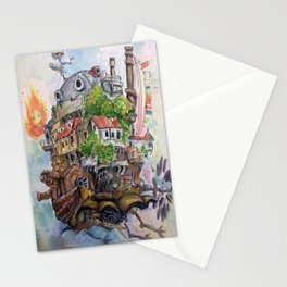 Howls Moving Castle Painting 2 Stationery Cards