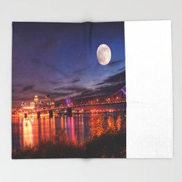 Along The Ohio River Throw Blanket