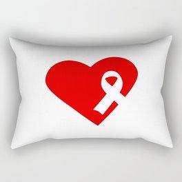 Blood Cancer Awareness Love Ribbon Rectangular Pillow