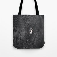 spider Tote Bags featuring Spider by LadyJennD